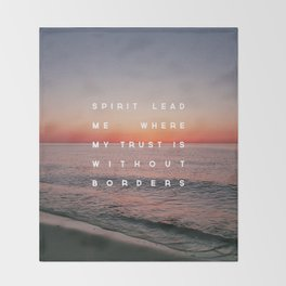 Spirit Lead Me Throw Blanket