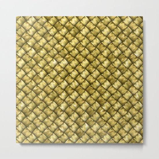 Patchwork Gold Metal Print