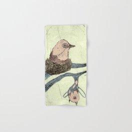Bird Etching Hand & Bath Towel
