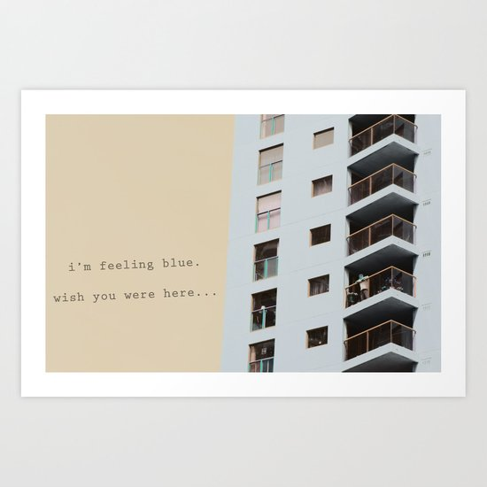 postcard from a tower block... Art Print