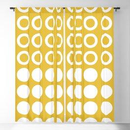 Mid Century Modern Circles And Dots Mustard Yellow Blackout Curtain