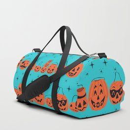 Trick or Treat Smell My Feet- Turquoise Duffle Bag