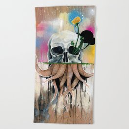 Skull Roots Beach Towel