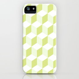 Diamond Repeating Pattern In Almond Buff and Grey iPhone Case