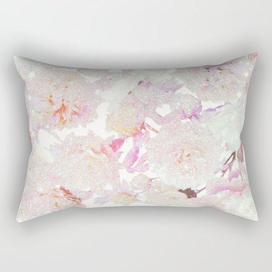 glittering pastel floral Rectangular Pillow
