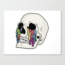 Self-Titled Inspired Skull Canvas Print