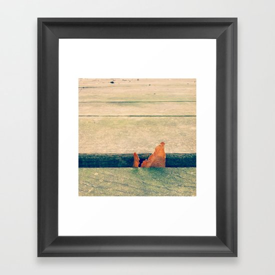 Lone Leaf Framed Art Print