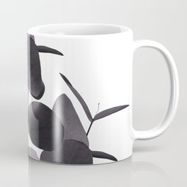 Eucalyptus Leaves Black White #1 #foliage #decor #art #society6 Coffee Mug