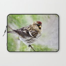 Christmas Redpoll Laptop Sleeve