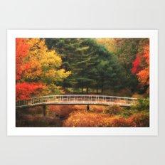 Bridge to Autumn Art Print