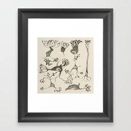 Neuron Cells Framed Art Print