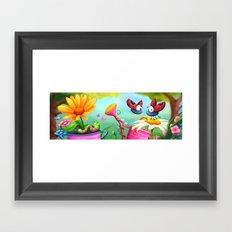 Optimistic Zoom Framed Art Print