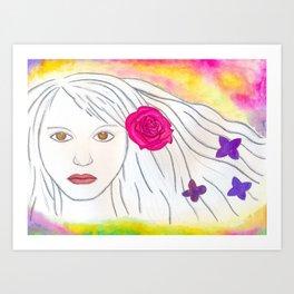 Psychodelic Girl Art Print