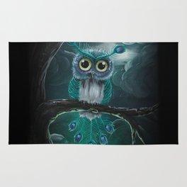Peacock owl Rug