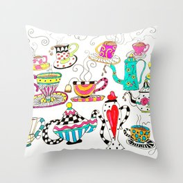 Coffee or Tea? Throw Pillow