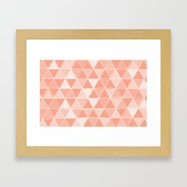 Coral Triangles Framed Art Print