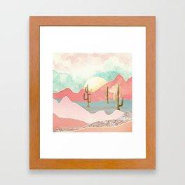Desert Mountains Framed Art Print