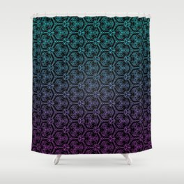 chain link - blue and purple mandala pattern Shower Curtain