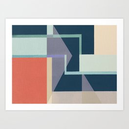 Geometric Breakdown 1 Art Print