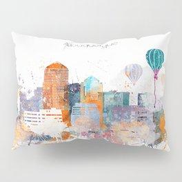 Colorful Albuquerque watercolor skyline Pillow Sham