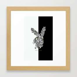 T.F TRAN CLASSIC FLORALS EASTER BUNNY LIMITED EDITION Framed Art Print
