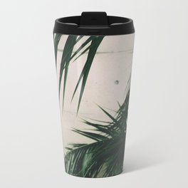 Tropical Palm Leaves Metal Travel Mug