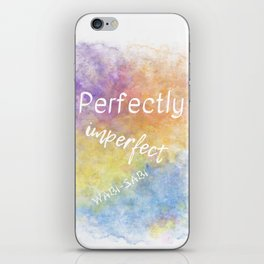 Perfectly Imperfect - Wabi-Sabi (white, blue, orange, yellow, purple) iPhone Skin