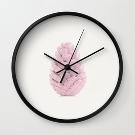 Pink Pine Botanic Art Wall Clock