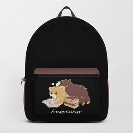 Happiness Brown Bear Backpack