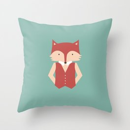 Mr. Foxy Throw Pillow