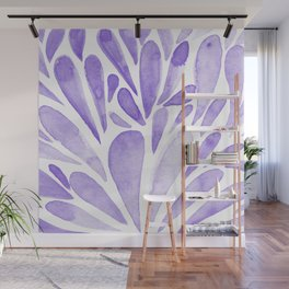 Watercolor artistic drops - lilac Wall Mural