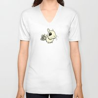 bunny V-neck T-shirts featuring Bunny by Bill Giersch