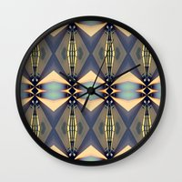 art deco Wall Clocks featuring Art-deco by I-lin