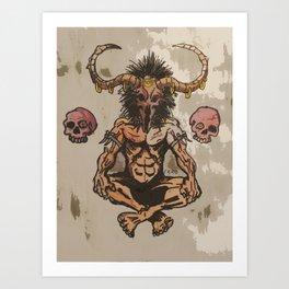 The Devils Eyes  Art Print