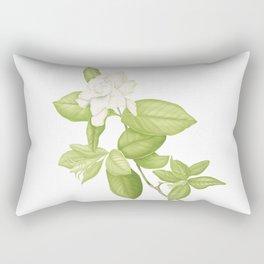 Gardenia Flower Rectangular Pillow