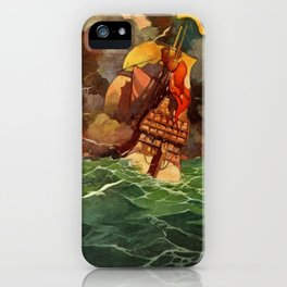 """""""Book of Courage"""" Cover by Frank Godwin iPhone Case"""