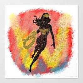 WonderWoman Splatter Background Canvas Print