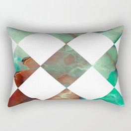 MARBLED ONYX & GEOMETRIC I Rectangular Pillow