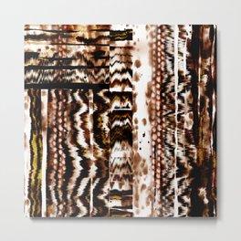 Tiger texture, tie dye animal print Metal Print