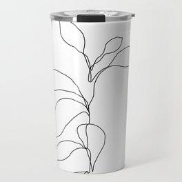 Single line plant drawing - Danya Travel Mug