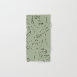 Matcha Faces Hand & Bath Towel