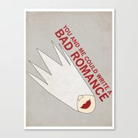 You and Me Could Write a Bad Romance Canvas Print