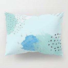 Abtract paint in light blue Pillow Sham