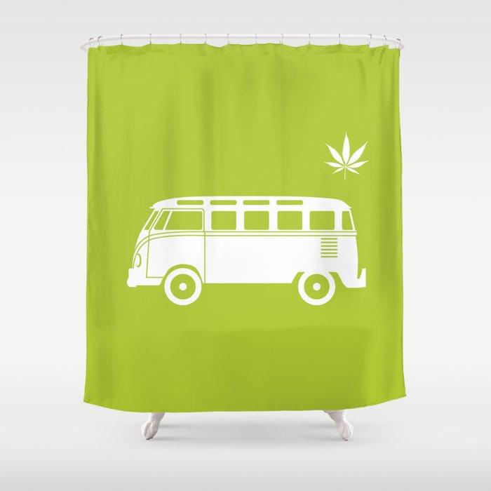 VW T1 Samba Shower Curtain By Clemenshellmund