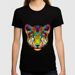 The Colorful Leopard Head WPAP Style T-shirt