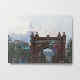Life is the bubbles in Barcelona Metal Print