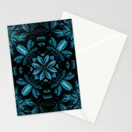 TEAL LEAVES MANDALA Stationery Cards