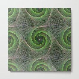 Green Swirls Metal Print