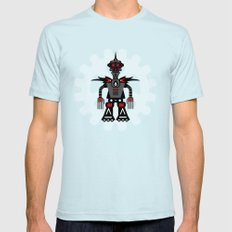 Evil Robot SMALL Light Blue Mens Fitted Tee