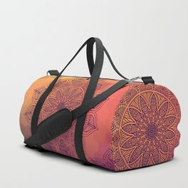Peach Mandala Duffle Bag
